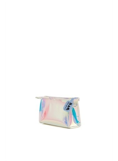Bagmori  Kadın Hologram Fermuarlı Makyaj Çantası M000006245 Pembe